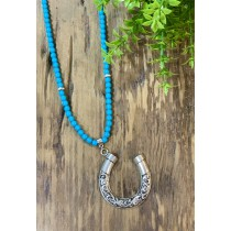COLAR SUMMER HORSESHOE BLUE